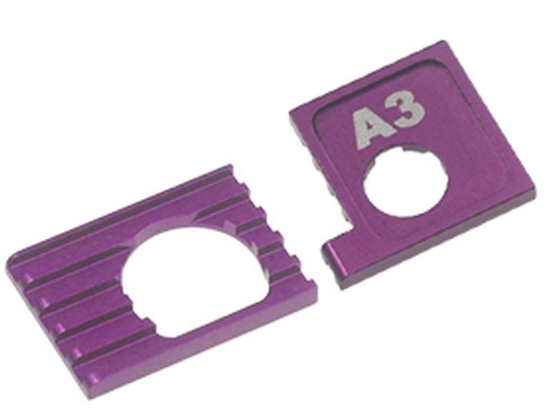 Motorhalter mit Kühlplatte für Mini-Z AWD, purple