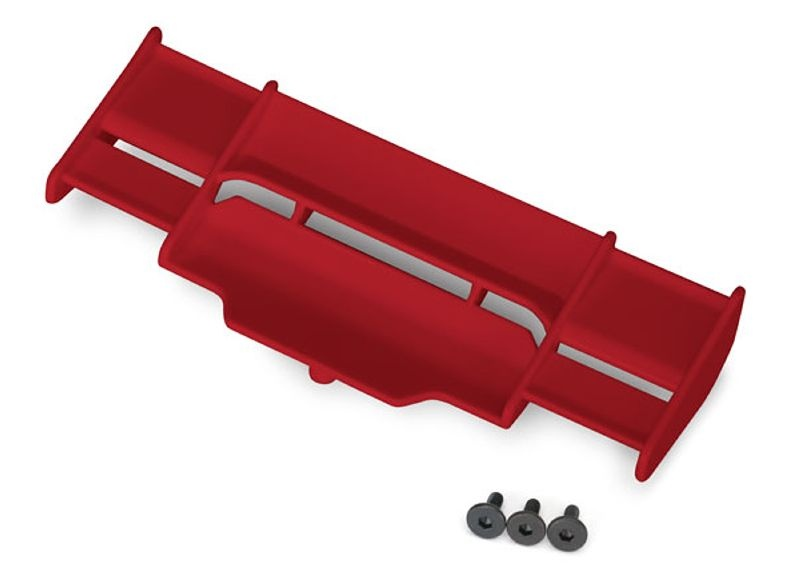 Heckflügel in rot für Rustler 4x4