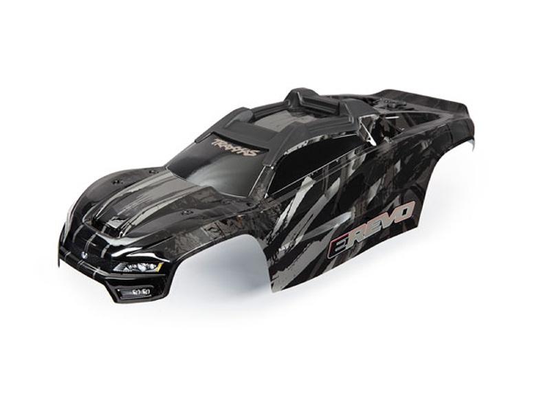 Karosserie schwarz mit Dekor für E-Revo 2.0 VXL