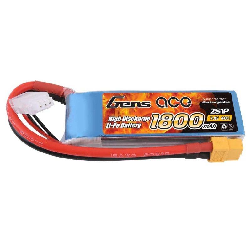 LiPo Akku 1800mAh 2S1P 7,4V 40C mit XT-60 Stecker