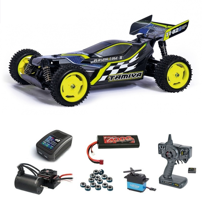 Plasma Edge II GunMetal TT-02B 1/10 Brushless Komplett-Set