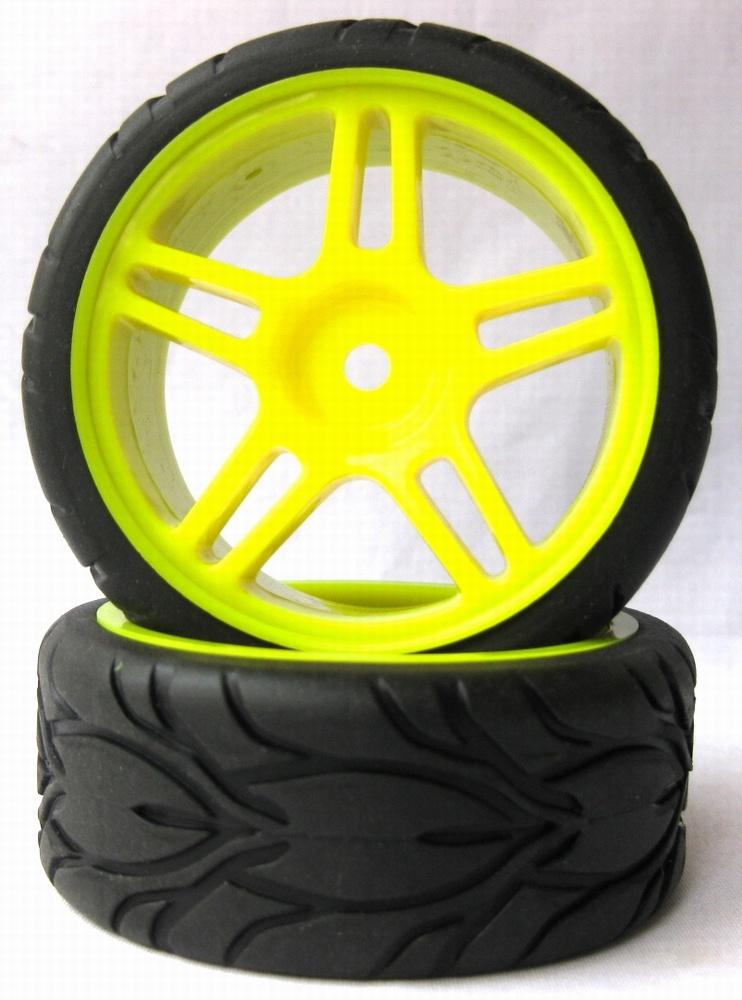 1:10 Tourenwagen Räder gelb 63mm 2Stk
