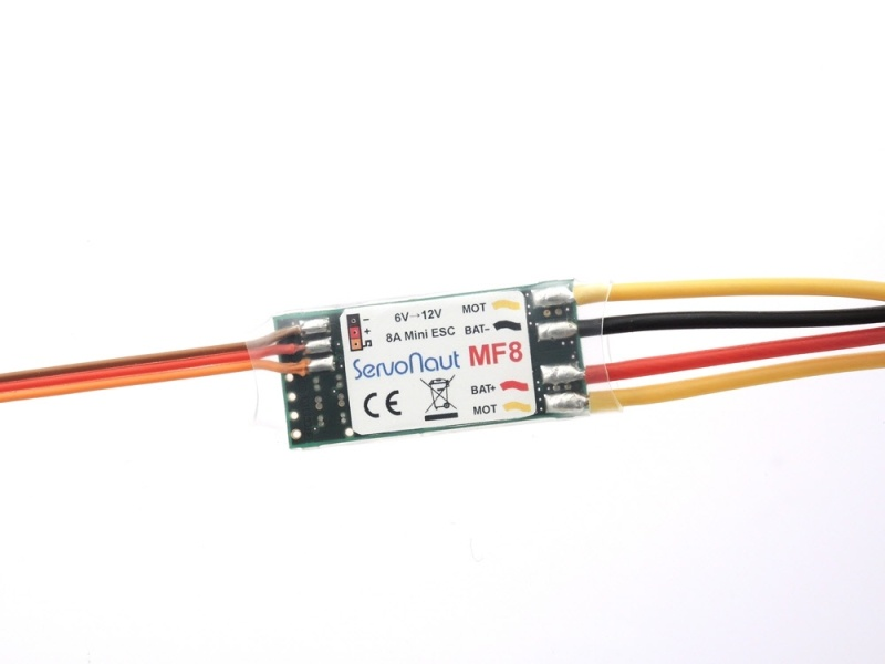 MF8 Fahrtregler für Stellantriebe 2-3S oder 5-10 Zellen NiMH