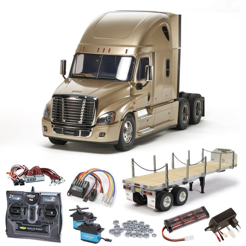 Freightliner Cascadia Evolution komplett,Flachbett,LED,Lager