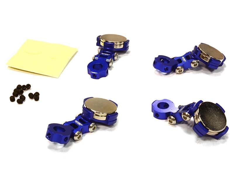 Einstellbare Magnet Karosseriehalter blau für 1/10