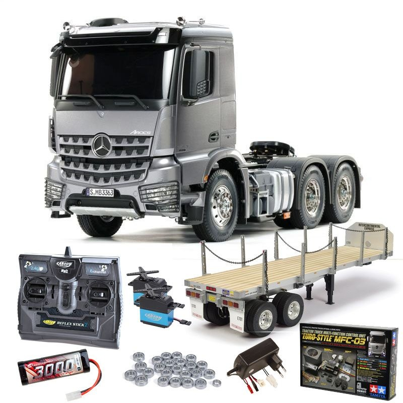 MB Arocs 3363 6x4 Truck Light Gun Metall Set, MFC, Flachbett