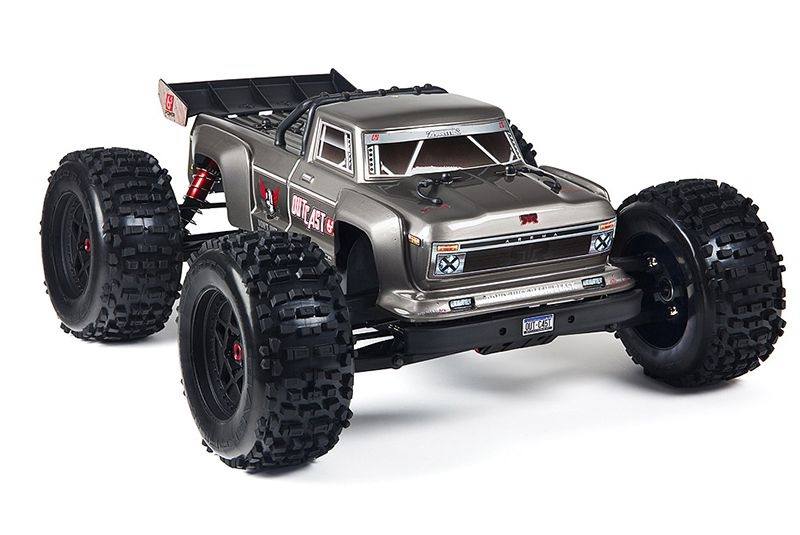 Outcast 6S BLX 4WD 1/8 Monster Truck silber RTR New 2018