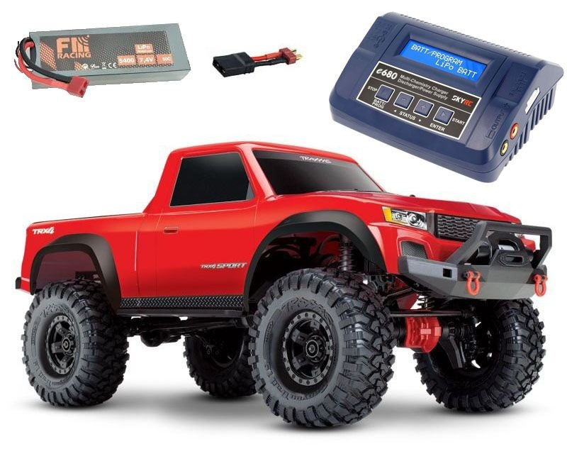 TRX-4 Sport - 1/10 Scale Crawler RTR rot + 5400 Lipo + Lader