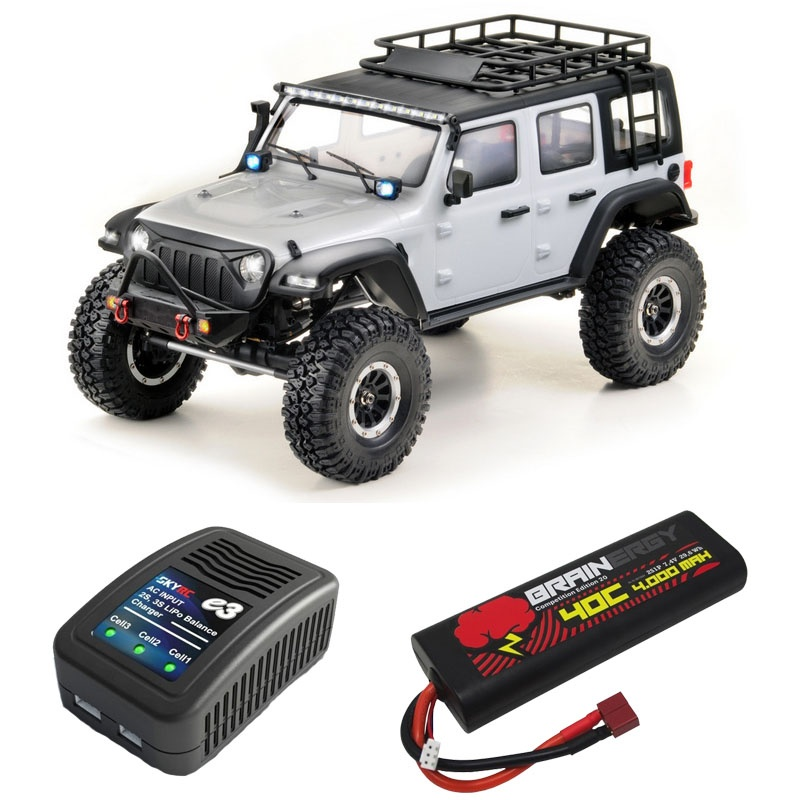 EP Crawler CR3.4 SHERPA White Edition 1:10 RTR Sparset