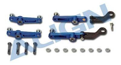 Paddel-Kontrollgestänge Metall, blau, für T-Rex 450