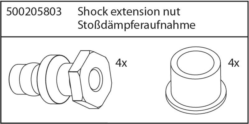 X8 Specter Stoßdämpferaufnahme