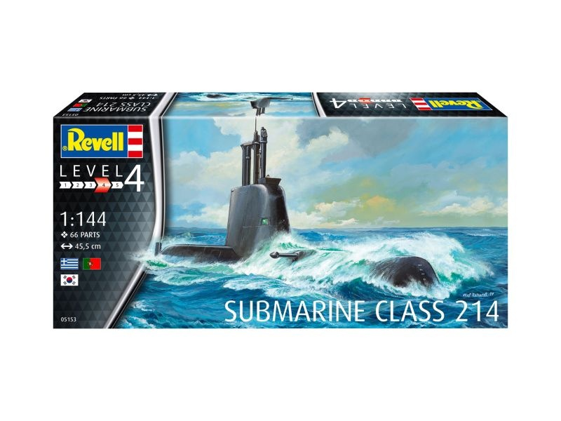 Submarine CLASS 214 U-Boot 455mm Bausatz 1:144