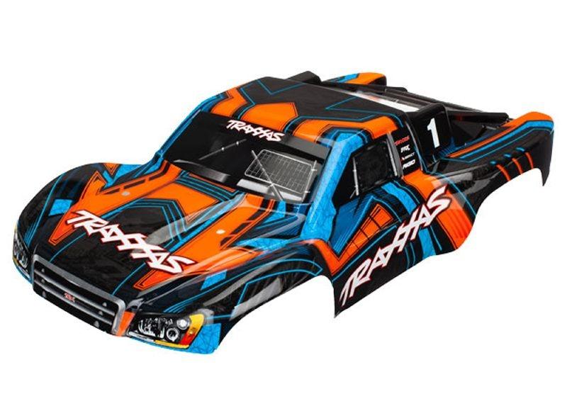 SCT Karosserie 1:10 fertig lackiert in orange/blau Slash 4x4