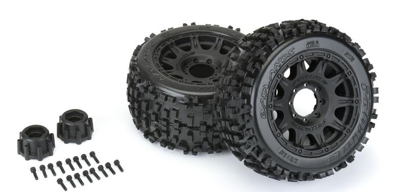 Badlands 3.8 All Terrain Reifen auf Felge 17mm montiert (2)