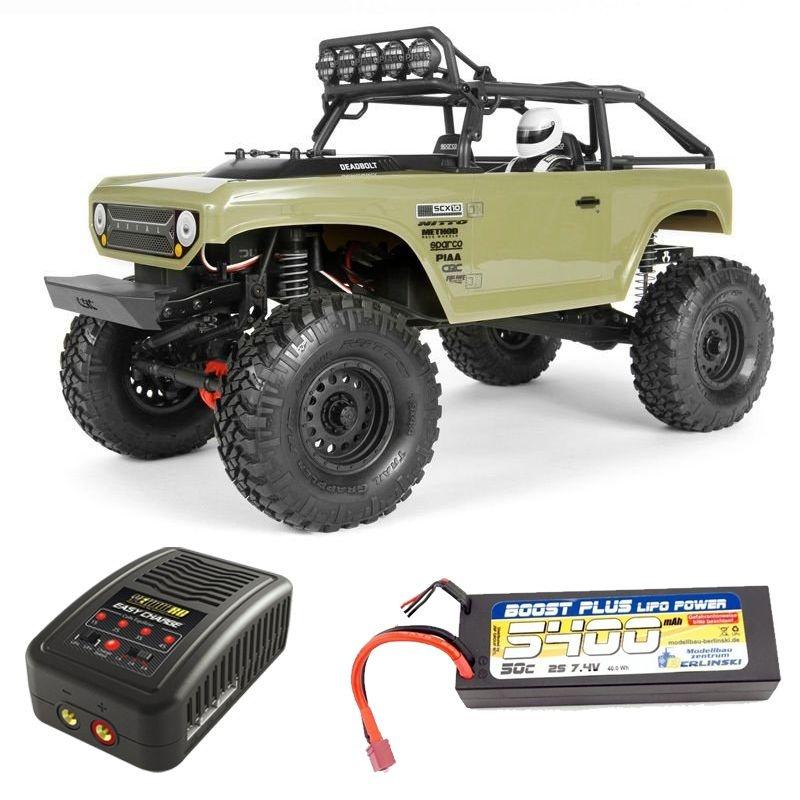 SCX10 II Deadbolt 4WD 1/10 Crawler 2,4GHz RTR Komplett Set
