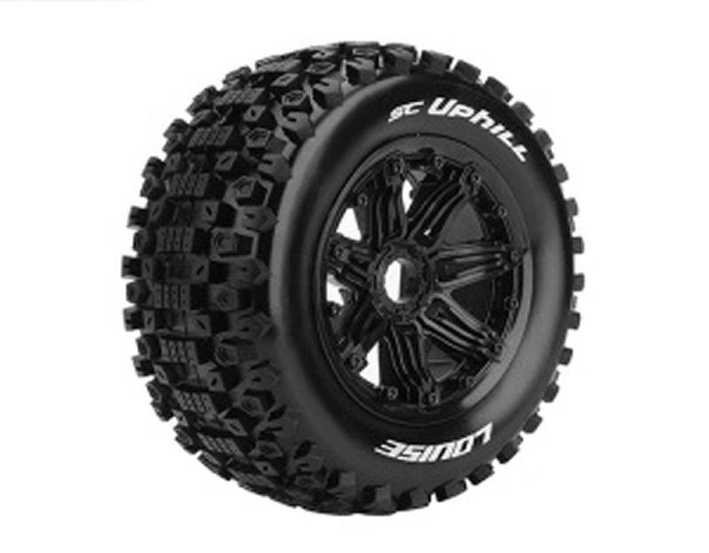 SC-Uphill 1/5 SCT Reifen auf Felge schwarz montiert 24mm
