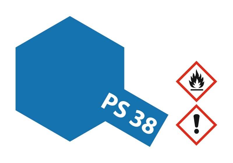 PS-38 Translucent Blau Polycarbonat 100ml