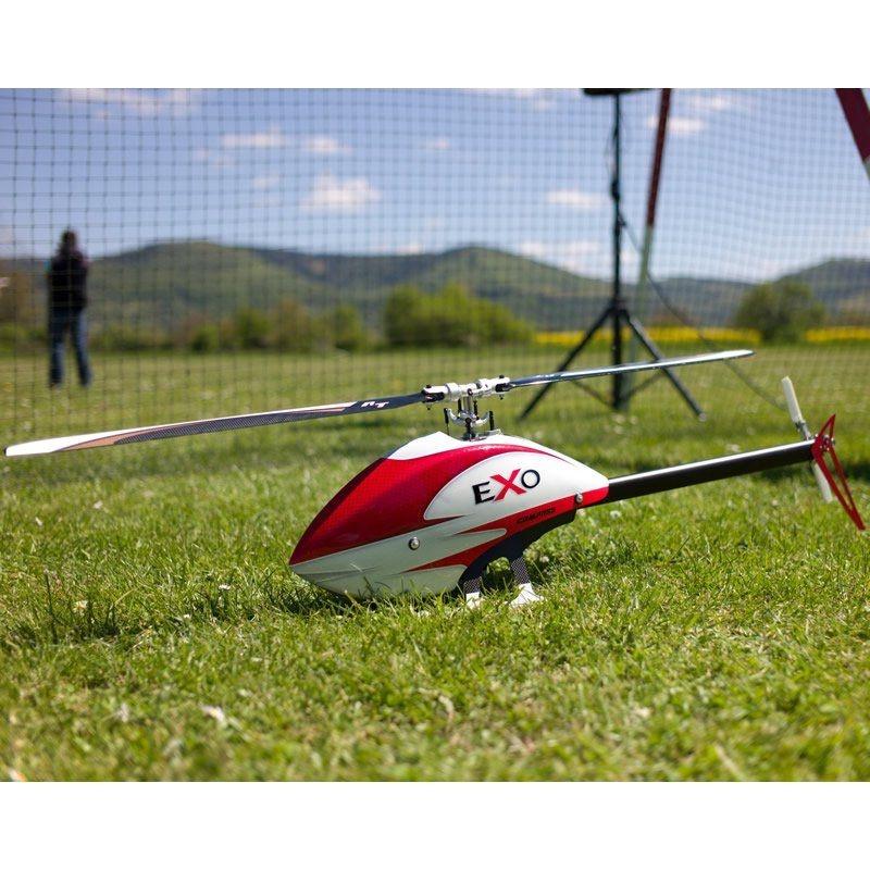 Compass eXo 500 mit CF Rotorblättern und Motor - rote Haube