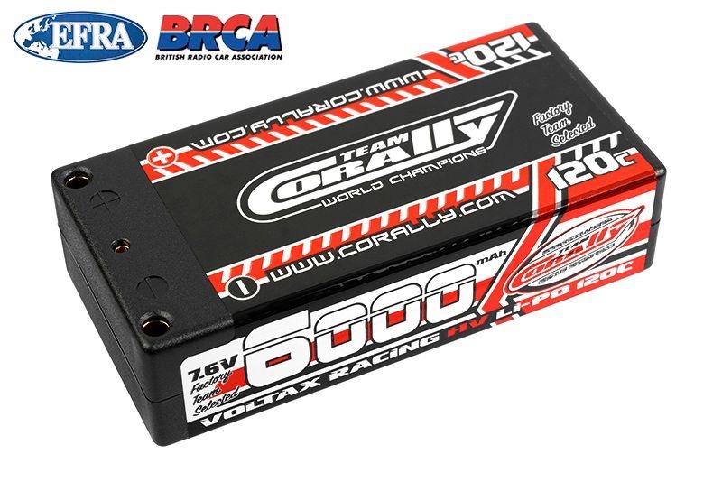 Voltax 120C LiPo HV Battery 6000 mAh 7.6V Shorty 2S 4mm