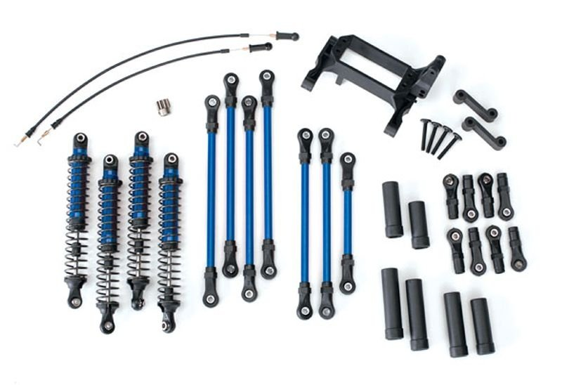 Long Arm Lift Kit komplett in blau für TRX-4
