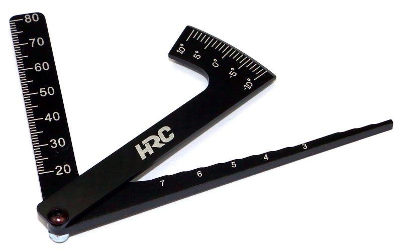 Alu Einstellwerkzeug, Sturz- und Höhenlehre für RC-Cars 1/10
