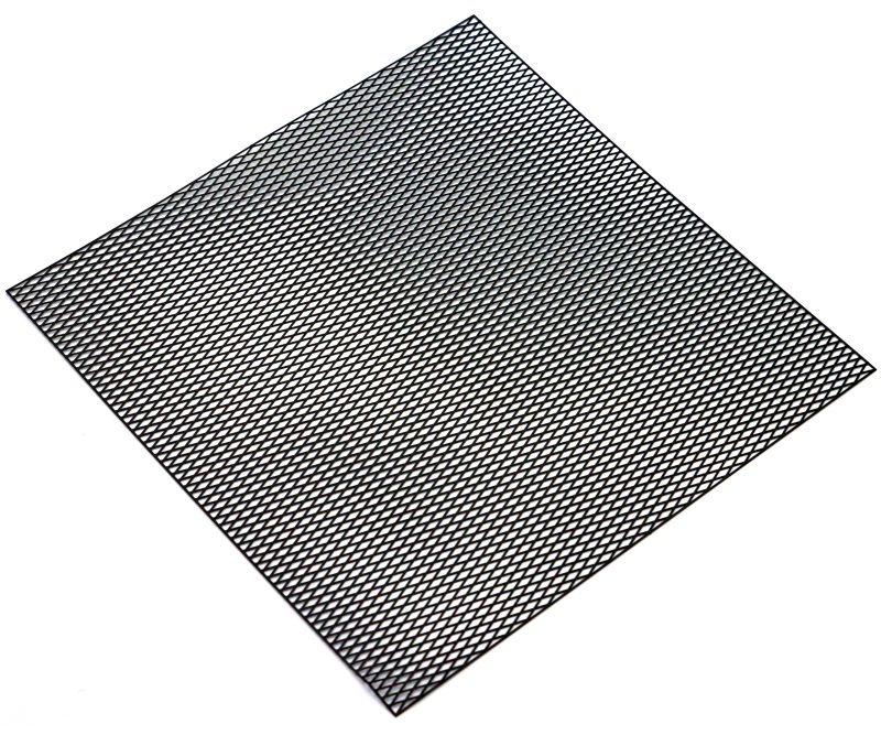 Edelstahl Gitternetz aus 100x100mm, Typ Diamond schwarz