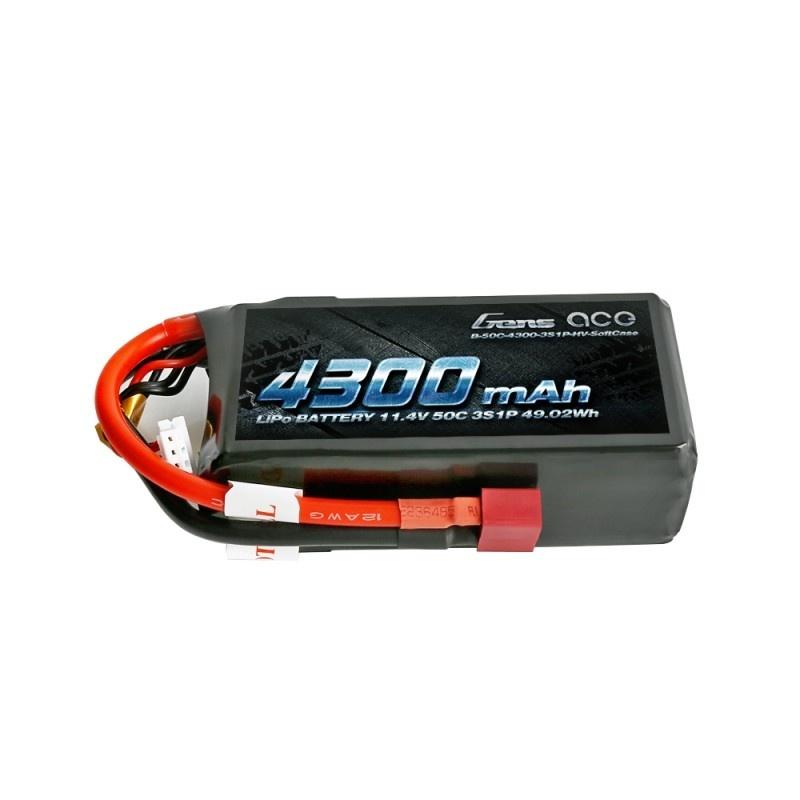 High Volt LiPo Akku 4300mAh 3S1P 11,4V 50C mit T-Stecker