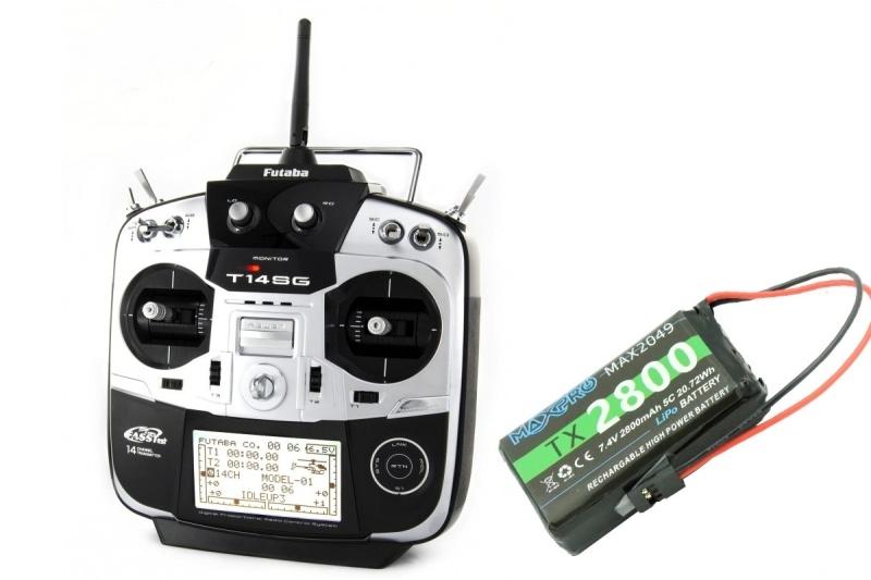 T14SG 2.4GHz 14-Kanal FASSTest Fernsteuerung M2 mit R7008SB