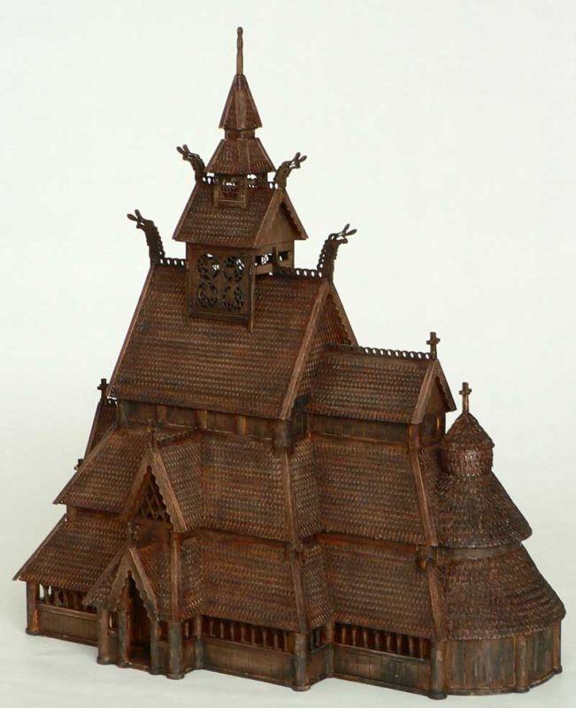 Gol Stabkirche 1:87 Baukasten