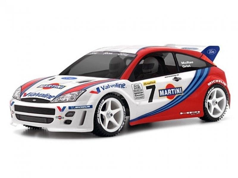 Ford Focus WRC Karosserie (klar) 200mm für 1:10 Tourenwagen