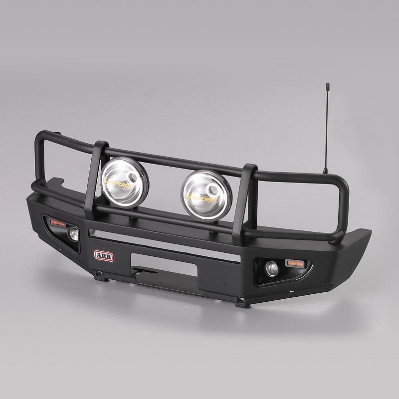 Rammschutz mit LED Scheinwerfer Alu schwarz für 1/10 Truck