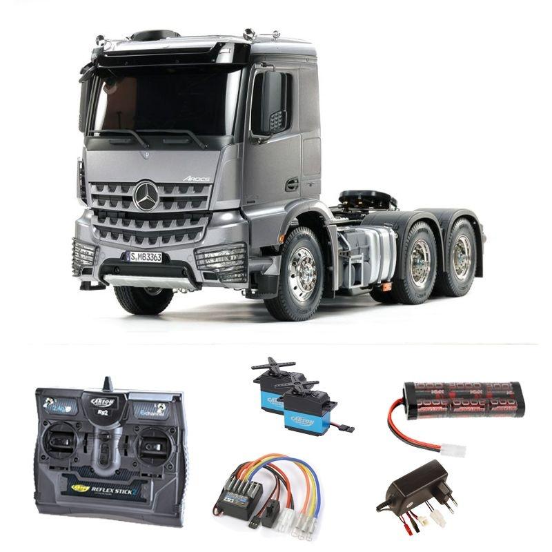 MB Arocs 3363 6x4 Truck 1/14 Light Gun Metall Komplettset