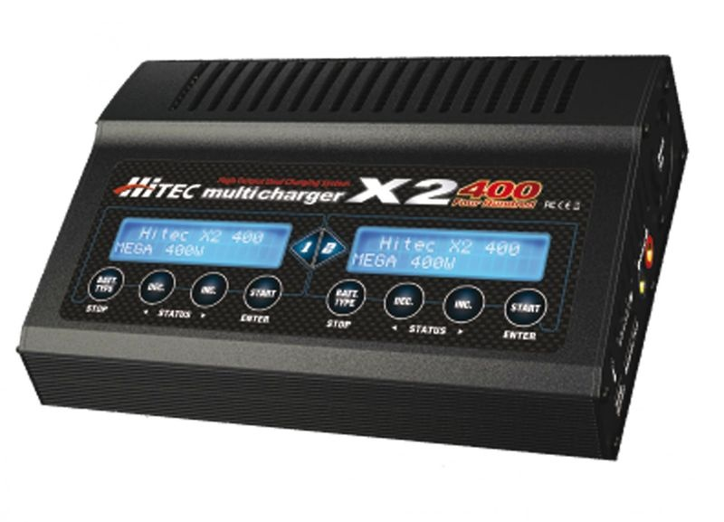 Multicharger X2 400 12-18V DC, 1-6 LiPo, 1-15 NiMh, 20A