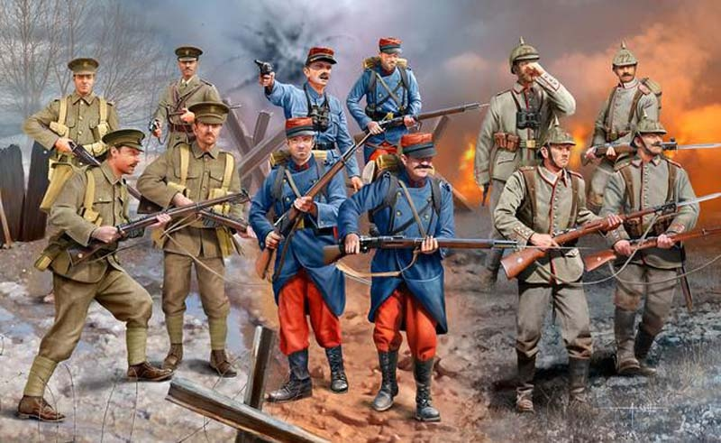 WWI INFANTRY German/British/French (1914) 1:35