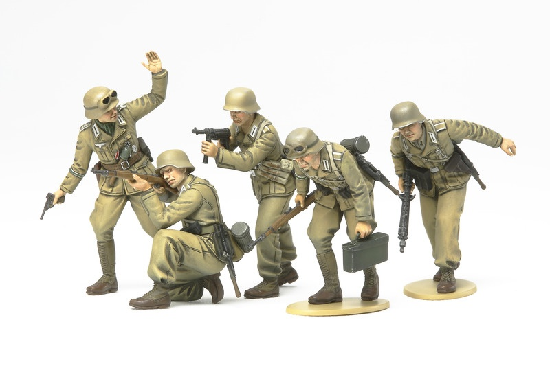 1:35 WWII Figuren-Set Deutsch Afrika Korps Infantrie