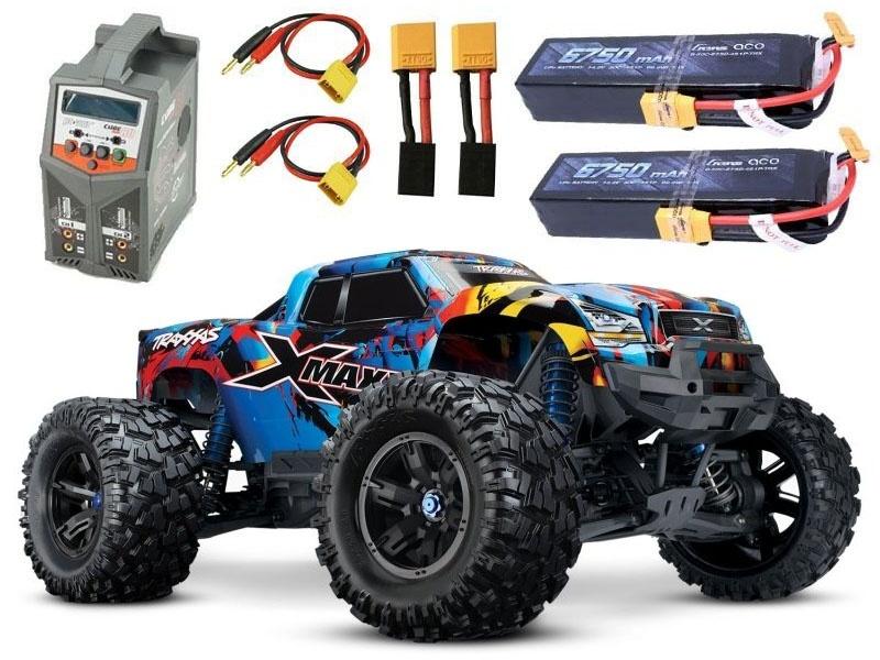 X-MAXX 8S 4WD BL Rock n Roll +2x 4S Gensace Lipo, Duo Lader