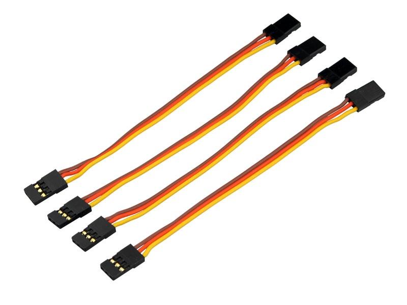 Servo-Patch-Kabel  Goldkontakt  UNI  Buchse  10cm  4 St