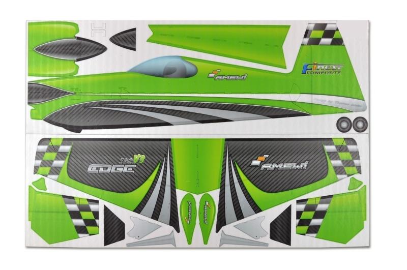 Edge 540V3 840mm Slowflyer Bausatz, grün