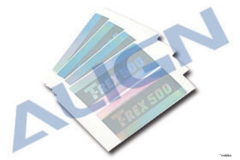 Paddel-Sticker für T-Rex 500
