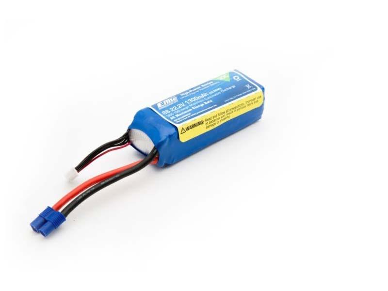 E-flite 6S 22,2V 1300mAh 30C LiPo-Akku m. EC3-Stecker