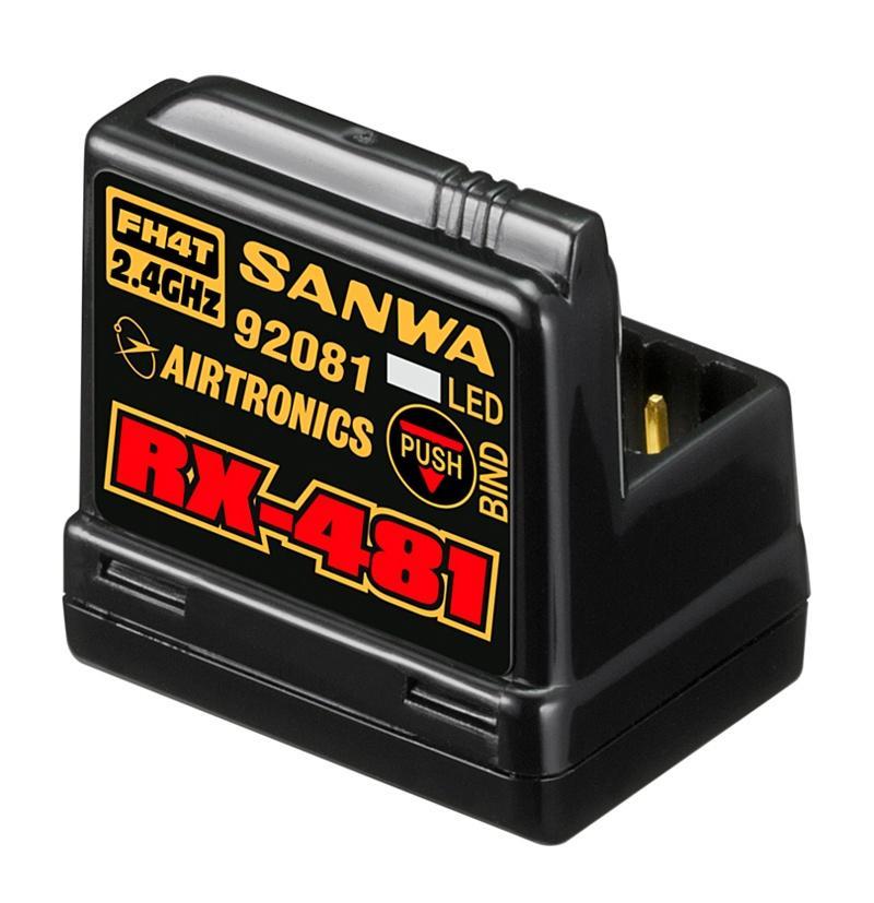 RX-481 Empfänger 2.4GHz FH3,FH4, 4-Kanal, SSR integ. Antenne