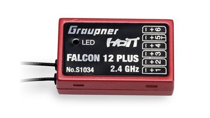 Falcon 12 plus HoTT - 2.4 GHz Empfänger 6 Kanäle