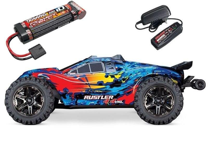 Rustler 4x4 VXL BLS 1/10 4WD Stadium Truck mit Akku + Lader