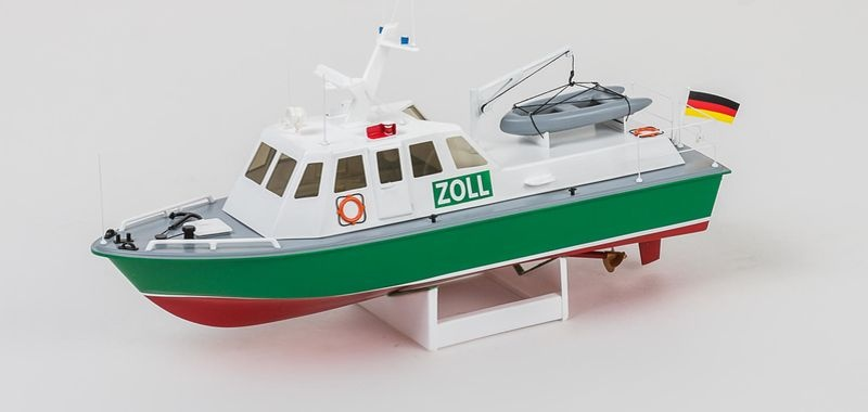Zoll Boot RC Motorboot Bausatz 1:35