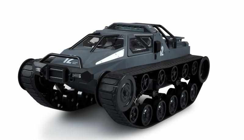 Ketten-Drift-Fahrzeug Military Police 1:12 grau/blau RTR