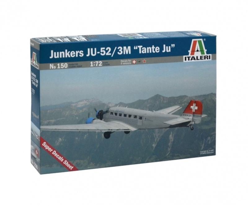 JUNKERS JU-52 3/m TANTE JU LH 1:72 Plastikbausatz