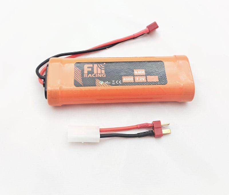 Akku 7,2V NiMH 4000mAh mit T-Plug inkl. Tamiya Adapter