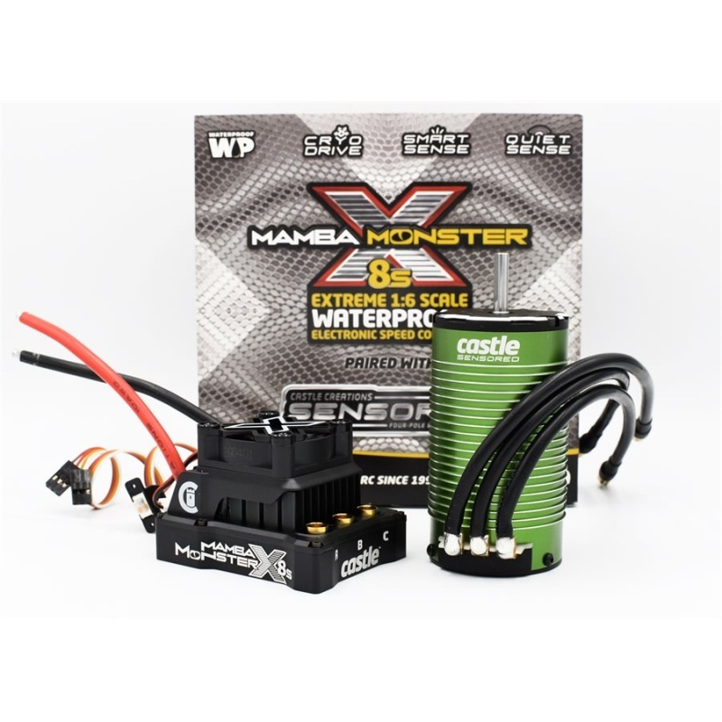 Mamba Monster X 8S 33,6V ESC mit 1717-1650KV sensored Motor