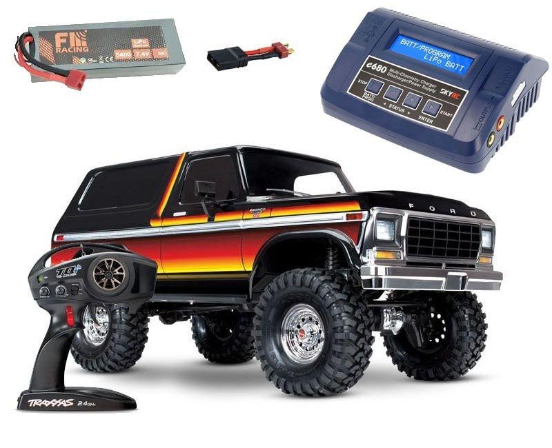 TRX-4 Ford Bronco XLT 1/10 Crawler RTR + 5400mAh LiPo +Lader