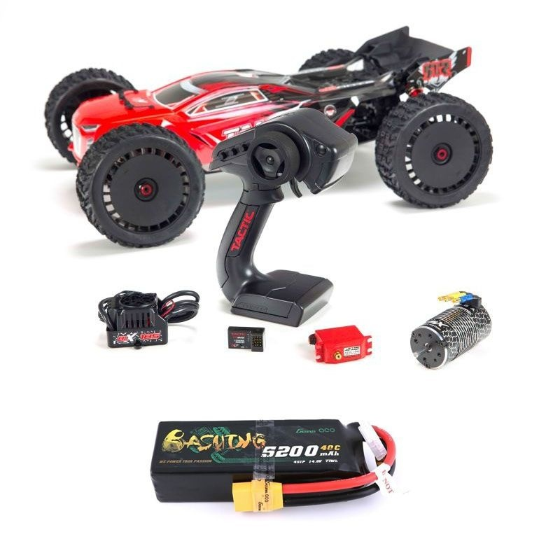 Talion 6S BLX 4WD - 1/8 Brushless Truggy RTR rot + 4S LiPo